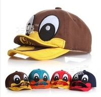 MZ1770  2014 New  Cottn Cute Duck Double-Tongue Children Baseball Cap Boys Girls Snapback   Children Visors Hats