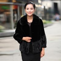 Marten overcoat Women 2013 outerwear short design mink fight mink fur female