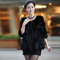 2013 marten overcoat Women fight mink overcoat mink fur coat short design