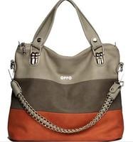 2013 BEST-SELLING!high quality real OPPO brand leather handbag for women Vintage fashion Chain orange design bag Promotion119