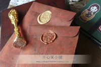 NEW zakka do the old retro color leather envelope Paper gilt decorated  vintage  envelopes specialty 50pcs/set/ free shipping