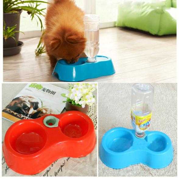 Free Shipping(Track NO) 1pc Automatic Puppy Water Dispenser Food Dish Bowl Feeder for Pet Dog Cat Y940(China (Mainland))