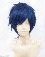 2014 NEW Free! Rei Ryugazaki Short Blue Black mix Cosplay Wig Anime costume party hair
