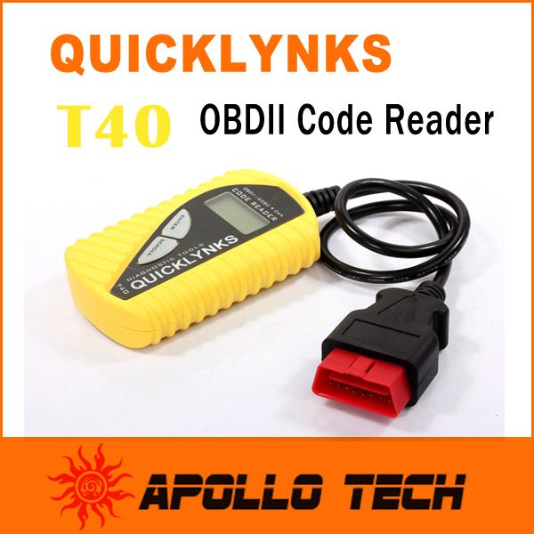 Basic Diagnostic Code Reader Leagend QUICKLYNKS T40 Multi-language CAN OBDII Scanner Auto Diagnostic Tool OBD2 EOBD JOBD(China (Mainland))