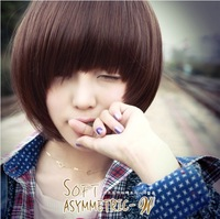 High quality women's fashion new style  short straight full lace  neat bang wigs
