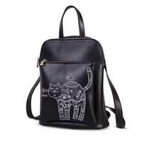 2014 New Collection Fashion Vintage Style Genuine Leather Backpack For Women Brand Designer Shoulder Bag Travel Backpack