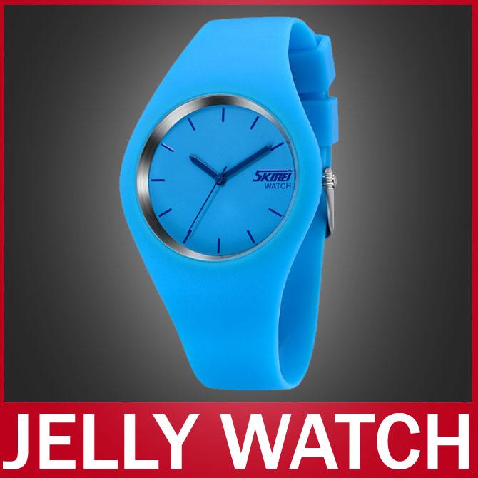 2014 Newest Fashion Brand Women Colorful Jelly Watch Men Casual Silicone Band Quartz Watch Wristwatch 30M Waterproof Sport watch(China (Mainland))