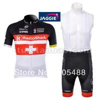 Free shipping+top Polyester+pad COOLMAX+2012 cross radioshack Cycling Jersey+BIB SHORTS Bike Sets Clothes Cycling wear/bike wear
