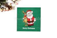 1 Pack 20 PCS Christmas Series Colorful Party Paper Napkin 33X33CM Pattern 2