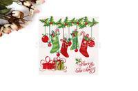 1 Pack 20 PCS Christmas Series Colorful Party Paper Napkin 33X33CM Pattern 9
