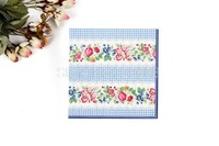 1 Pack 20 PCS Chinese Style Flowers Series Party Paper Napkin 33X33CM Pattern 26 / CZ006-26