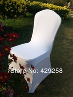 Russian,USA,Canada Shipping 50pcs White Spandex/Lycra Chair Cover for Wedding,Banquet,Hotel