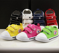 2014 child canvas shoes candy color baby canvas shoes baby shoes toddler shoes single shoes children shoes soft outsole
