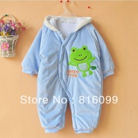 Cartoon pattern velvet thickening Romper climbing clothes style jumpsuit high quality free shiping