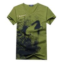 2014 new men's T-shirt printing men's Tees Men's cotton casual short-sleeved T-shirt tops wholesale + free shipping