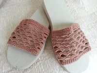 Handmade crocheted slipper
