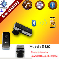 Free shipping Universal Bluetooth Wireless Stereo Headset Earphone for Samsung Galaxy Note II 2 Galaxy S III 3 S IV 4