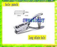 Free shipping  2pcs /lot Manual PVC15*4mm  Long oblate hole  puncher plier