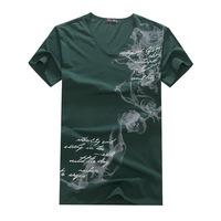 Personalized Men's V-neck men's T-shirts wholesale wholesale cotton short-sleeved T-shirt factory direct supply