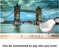 Free shipping Atmospheric Tower Bridge Mural wallpaper