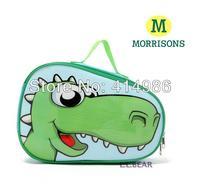 SALES Free shipping new green cartoon dinosaur waterproof children handbag travel makeup bag large capacity cosmetic bags HZB037