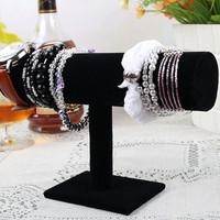 Black jewelry holder single tier leather bracelet holder watch frame bracelet holder jewelry accessories display rack