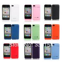 1pc Power bank 1900mAh External Rechargeable Backup Battery Charger Case Guard Fit For Iphone 4 4G 4S power Charger