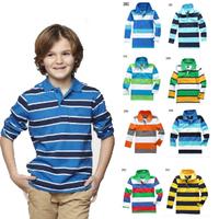 Retail Wholesale Boys Shirts Children Blouses Autumn 2013 Kids Fashion Long-sleeve Turn-down Collar Girls Tops & Shirt