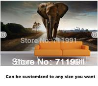 Free shipping Elephant Mural Wallpaper Wallpaper