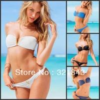 Freeshipping 2014 VS V Letter push up women sexy Swimwear Victoria style swimsuit sexy bikini set