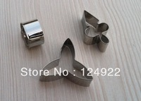 Free Shipping Cake Decorating Tools,3pcs/set Stainless Steel Moth Orchid Candy Biscuit Jelly Fondant Cookie Cutters