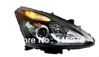 Car Headlight Assembly Angel Eyes Halogen LED Projector Headlight for Nissan Tiida 2011 2012 2013