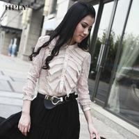 Hply eyelash lace chiffon laciness sun protection clothing shirt hm331100