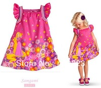 2014 new baby girls dress for summer autumn children kids Princess dresses flower Sleeveless party dresses baby clothing