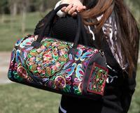National trend embroidered bags women's handbag shoulder bag messenger bag dual-use package
