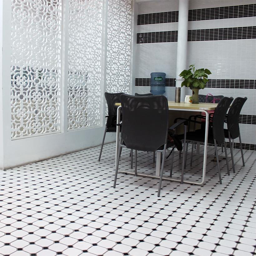 Azulejos Baño Grandes:de cerámica blanco y negro grandes pegatinas de pared baño azulejo