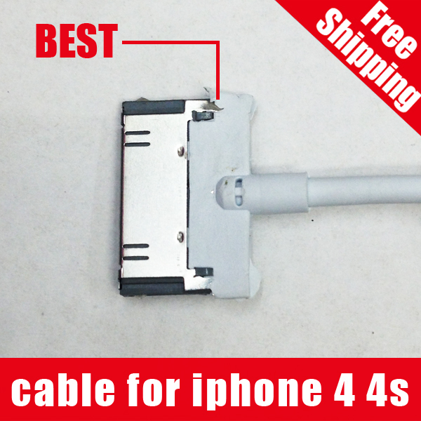 1:1 Original For apple iphone 4 4S ipod touch ipad iPod nano 5 6 data Sync USB Mobile phone Cable charger 30 pin white Data Sync(China (Mainland))