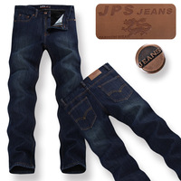 28 yards -44 yards plus size plus thick velvet leisure straight thick stylish casual men's jeans, free shipping