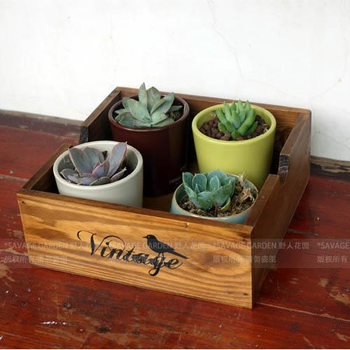 Zakka desktop storage box retro vintage ridel finishing wood pallet square(China (Mainland))