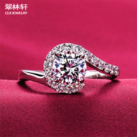 Escvd diamond ring jewelry accessories artificial diamond ring wedding ring female fashion lovers ring 7430