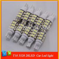 10pcs/lot 10pcs/lot car light bulb t10 smd 3528 white lamp 28 Led Auto interior car bulbs reading/door led lamp for car