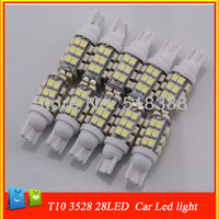 10pcs/lot 10pcs/lot car light bulb t10 smd 3528 white lamp 28 Led Auto interior car bulbs reading/door led lamp for car