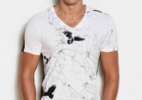 123378 # men's wear short-sleeved fine cotton T-shirt