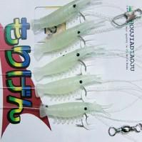 Prawn shashlik hook belt luminous shrimp bionic shrimp soft bait shi-hang hook fishing lure