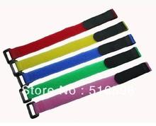 Многоразовые velcro-фиксатор кабеля связи ремни с пластиковой кнопки на липучке нейлона ремень с пряжкой 20 * 200 мм на липучке крюк