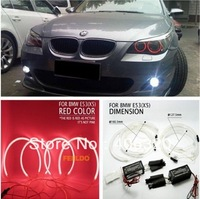 Red CCFL LED Angel Eyes headlights for BMW X5(E53)angel eyes kits 4pcs/set Free shipping