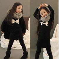 Free shipping,Spring children's long sleeve T shirt,Cotton Girls shirt Black bottoming shirt High quality TZ18A03