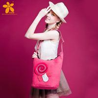 2014 fashion vintage handmade lollipop print casual shoulder bag messenger bag female street bags
