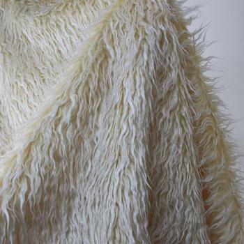 Молоко желтый цвет 5 см длинные волосы пляж шерстяной новорожденный фото реквизит искусственного меха фотографии 100 см x 150 см