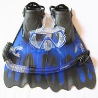 FREE SHIPPING Snorkel triratna submersible mirror full dry breathing tube long topis fins set